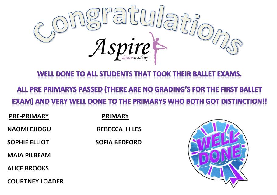 ballet exam congrats