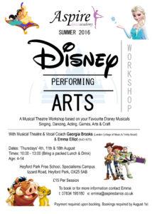 Summer 2016 Disney Workshop